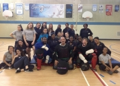 Marie Clarac, May 2017, hands-on women's self-defence course