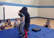 Marie Clarac high school for girls. Women's self-defence course. Fighting from the ground. May, 2018