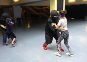 Pierrefonds Day Camps. Children's self-defence workshop. July 2018