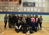 Sacred Heart School. Mom and teen hands-on self-defence workshop. April 14, 2018 A wonderful, eye opening experience for all participants