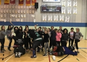 Sacred Heart School. Mom and teen hands-on self-defence workshop. April 14, 2018. A wonderful, eye opening experience for all participants.