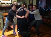 Small group women's self-defence course given over three sessions. Montreal West, September 2018