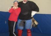 Cours d'autodéfense à l'école Marie Clarac pour les secondaires 4 et 5