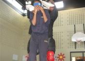 Knife blindfolded with junior nice - Marie Clarac 2013