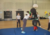 George about to attack at Marie Clarac 2014 assault prevention