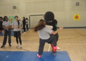 George attacking at Marie Clarac 2014 assault prevention