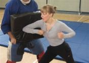 Hitting shield elbow on Phil - Marie Clarac 2013