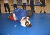 Junior blindfold at Marie Clarac 2014 assault prevention